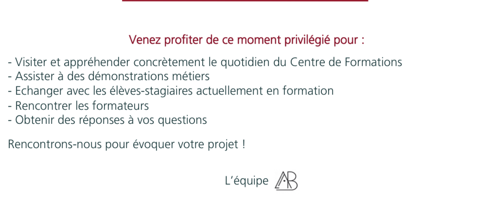 TEXTE INVITATION